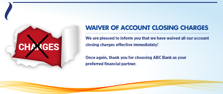 Account closure - webbanner