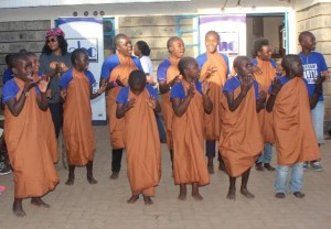 Upendo Children Home kids entertain the ABC Bank staff and friends.