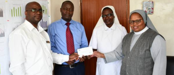 ABC Bank supports St. Theresa Mission Hospital – Kiirua in curbing the spread of Covid-19